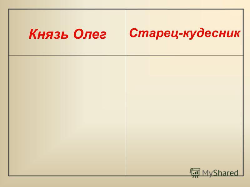 Князь Олег Старец-кудесник