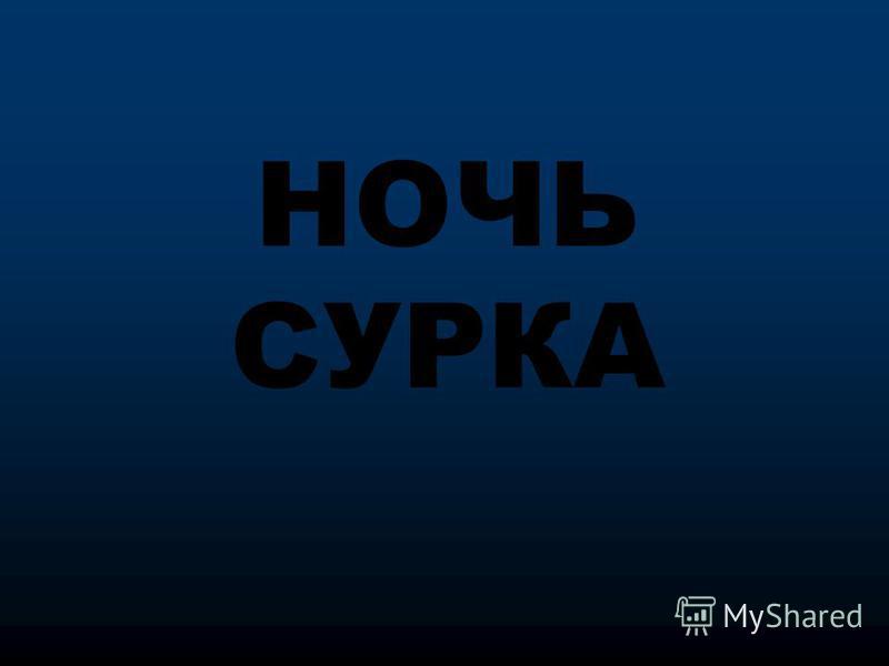 НОЧЬ СУРКА