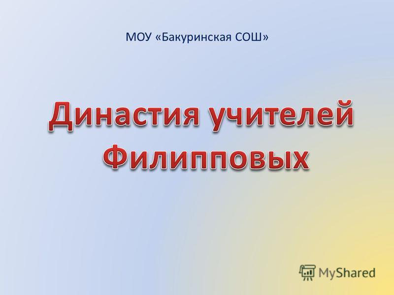 МОУ «Бакуринская СОШ»