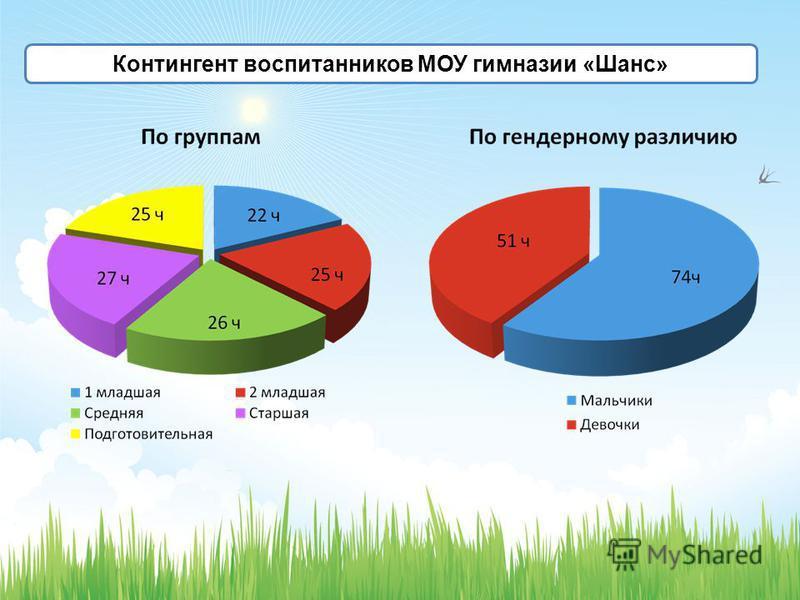 Контингент воспитанников МОУ гимназии «Шанс»