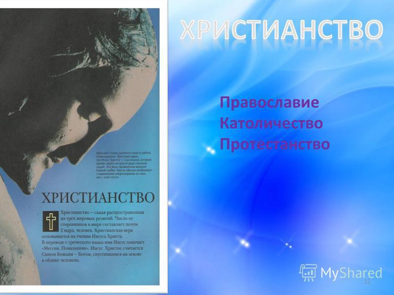 12 Православие Католичество Протестанство