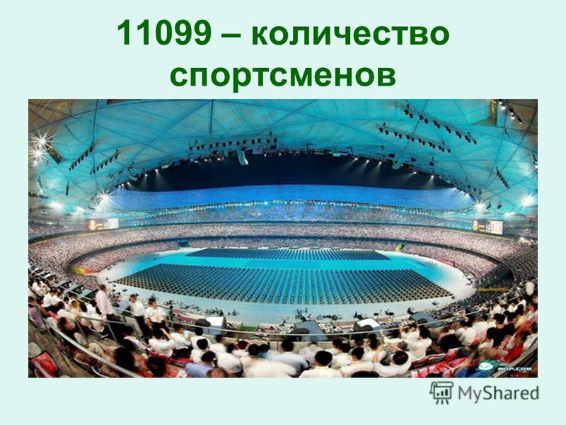 11099 – количество спортсменов