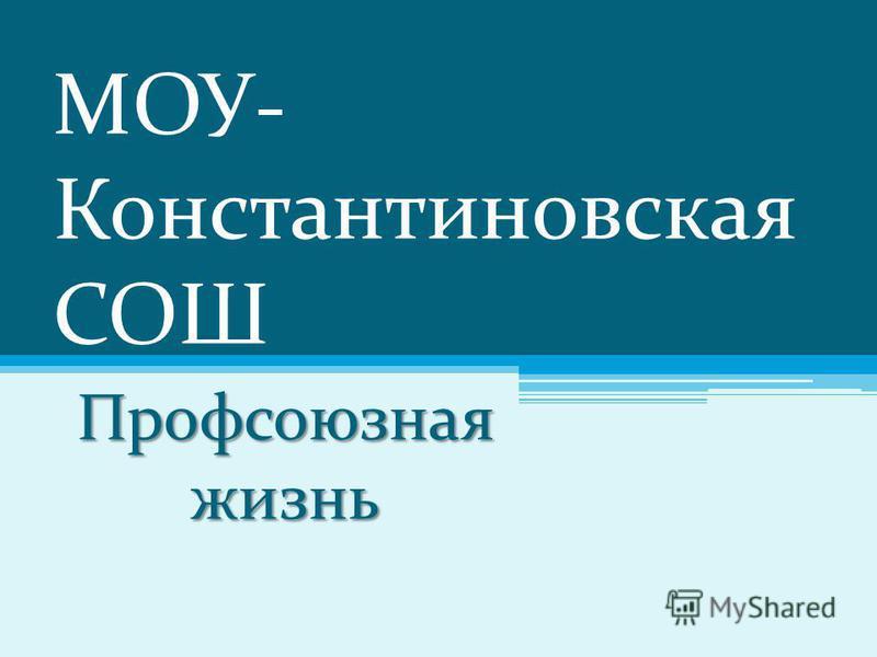 МОУ- Константиновская СОШ Профсоюзная жизнь