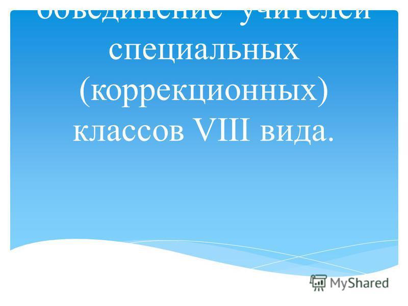 Методическое объединение учителей специальных (коррекционных) классов VIII вида.