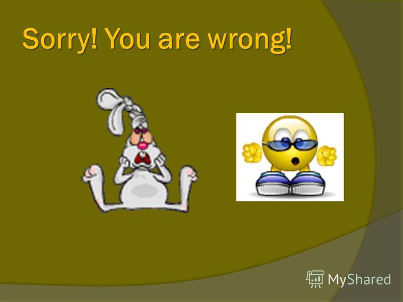 Sorry! You are wrong!