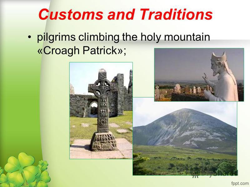 Customs and Traditions pilgrims climbing the holy mountain «Croagh Patrick»;