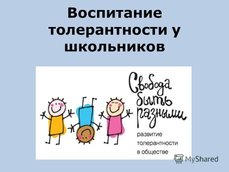 Воспитание толерантности у школьников