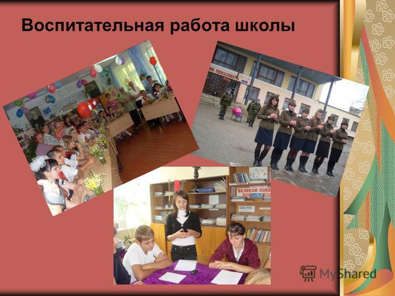 Воспитательная работа школы