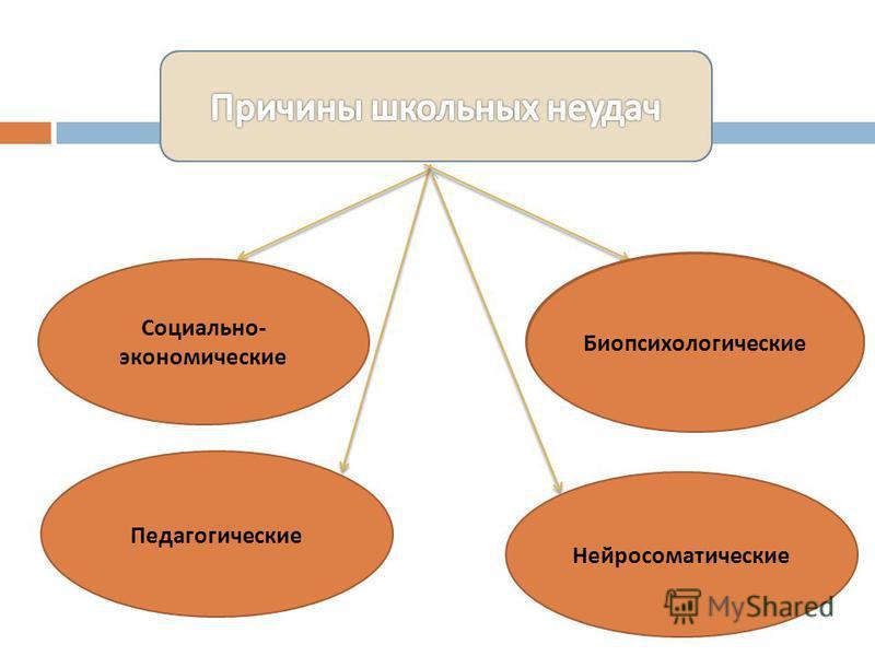 Социально - экономические Биопсихологические Педагогические Биопсихологические Нейросоматические