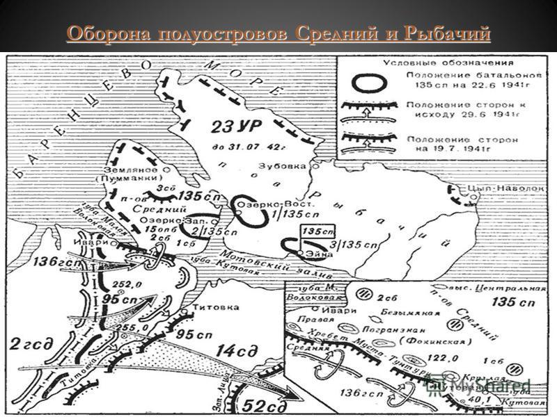 Оборона полуостровов Средний и Рыбачий Оборона полуостровов Средний и Рыбачий