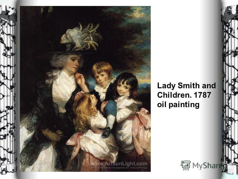 Lady Smith and Children. 1787 oil painting