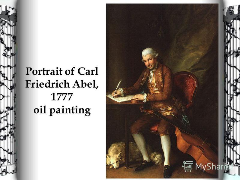 Portrait of Carl Friedrich Abel, 1777 oil painting