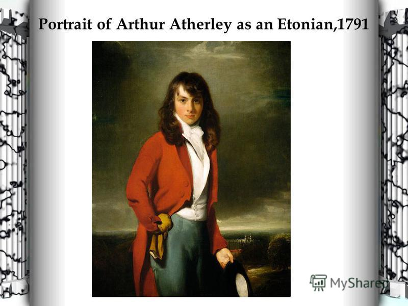 Portrait of Arthur Atherley as an Etonian,1791