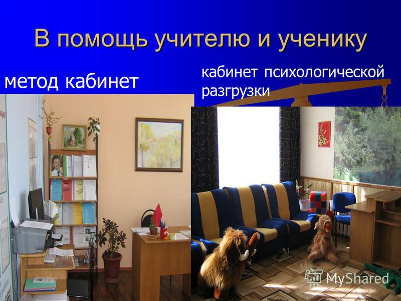 В помощь учителю и ученику кабинет психологической разгрузки метод кабинет