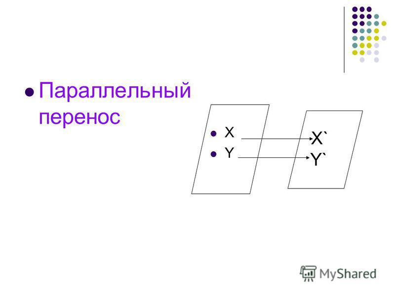Параллельный перенос X Y X` Y`
