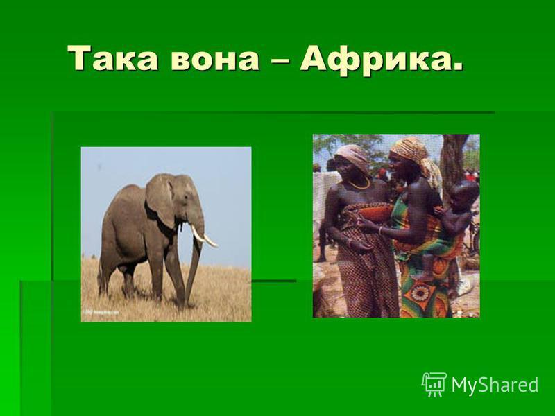 Така вона – Африка. Така вона – Африка.