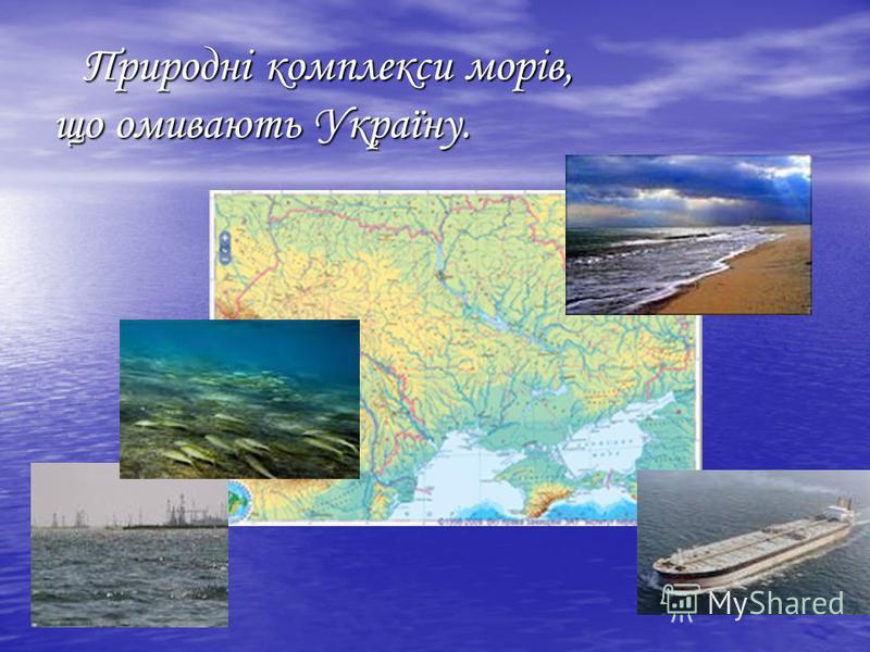 Природні комплекси морів, що омивають Україну. Природні комплекси морів, що омивають Україну.