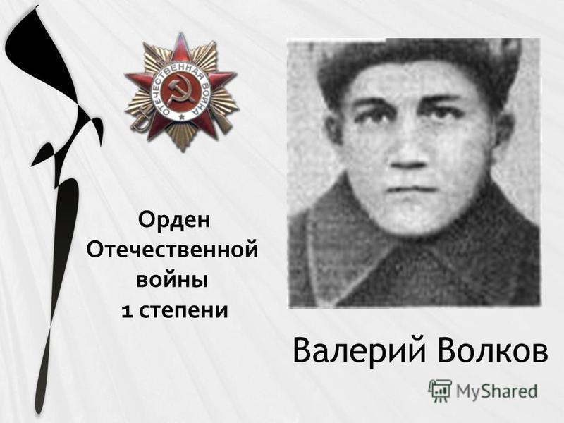 Валерий Волков Орден Отечественной войны 1 степени