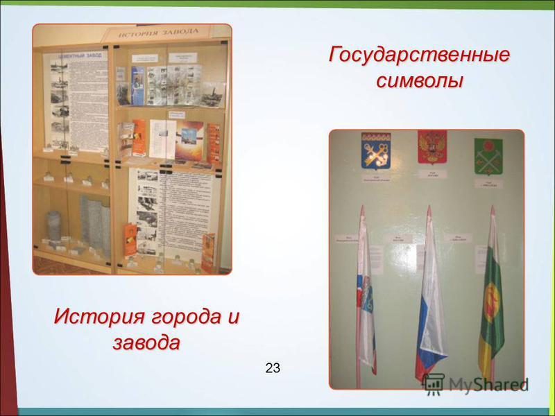 История города и завода Государственные символы 23
