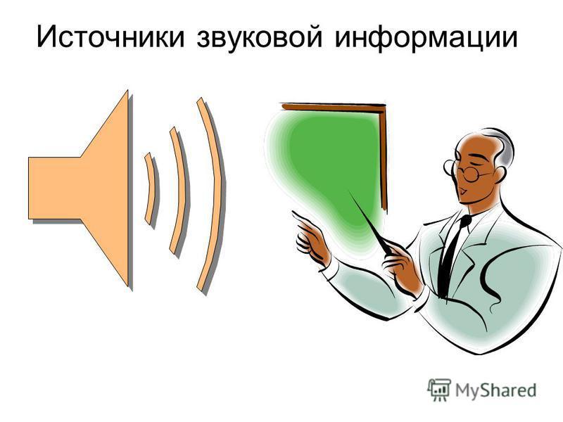 Источники звуковой информации