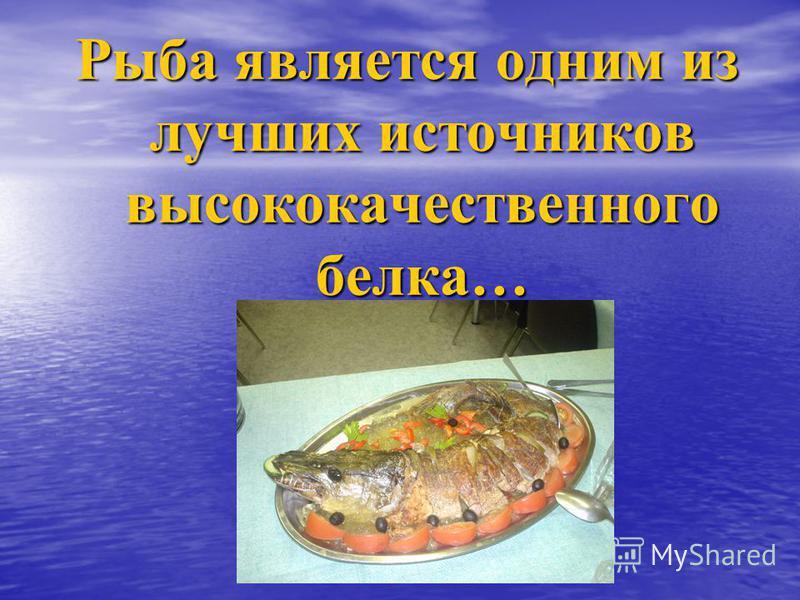 Рыба является одним из лучших источников высококачественного белка…