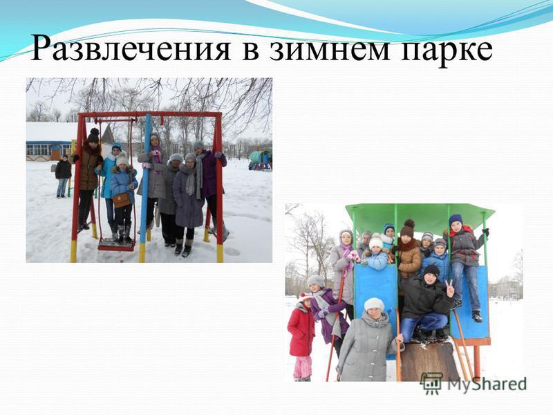 Развлечения в зимнем парке