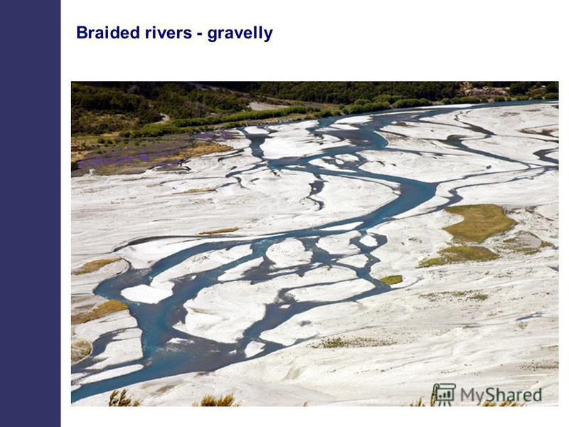 Braided rivers - gravelly