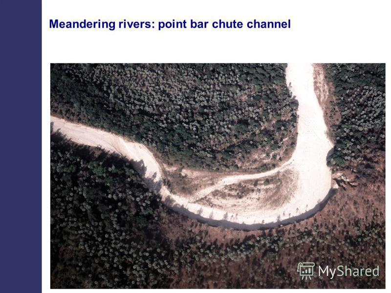 Meandering rivers: point bar chute channel