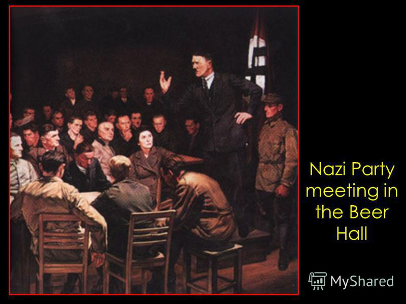 Nazi Party meeting in the Beer Hall