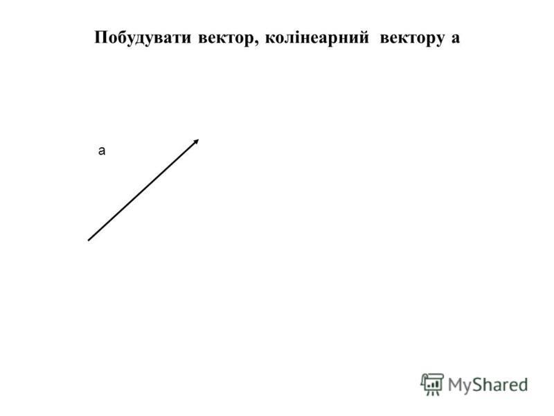 Побудувати вектор, колінеарний вектору а а