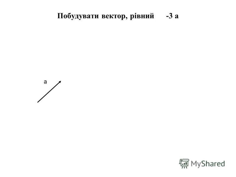 Побудувати вектор, рівний -3 а а