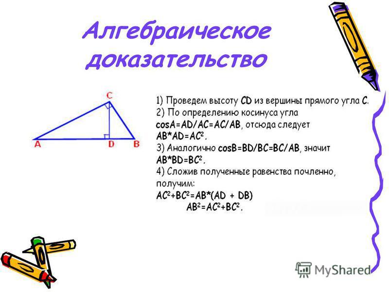 Алгебраическое доказательство