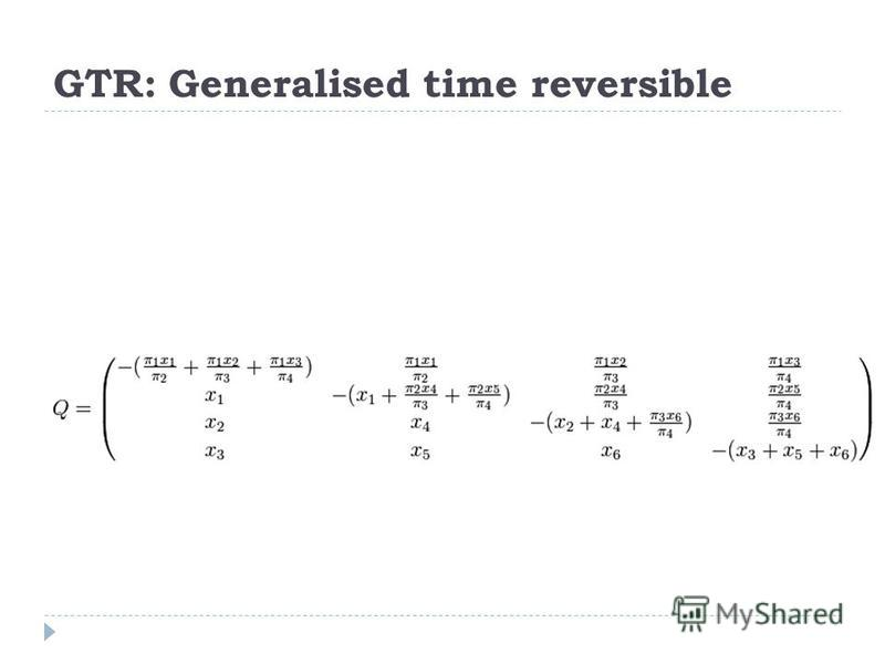 GTR: Generalised time reversible