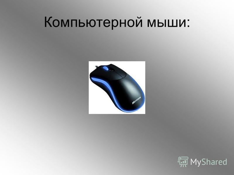 Компьютерной мыши: