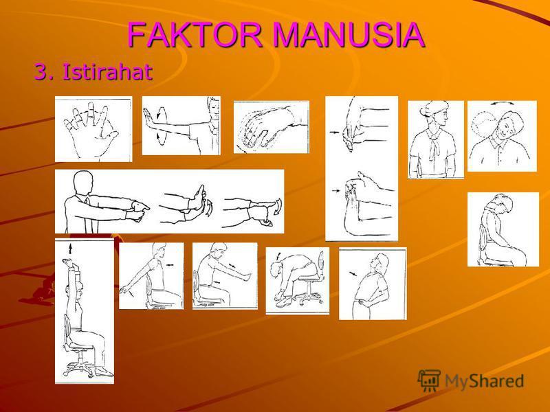 3. Istirahat FAKTOR MANUSIA