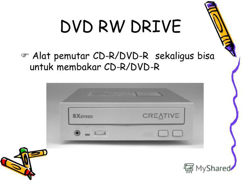 DVD RW DRIVE Alat pemutar CD-R/DVD-R sekaligus bisa untuk membakar CD-R/DVD-R