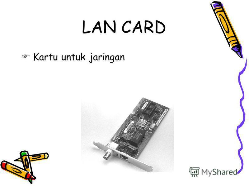 LAN CARD Kartu untuk jaringan