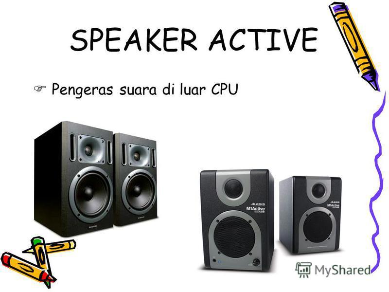SPEAKER ACTIVE Pengeras suara di luar CPU