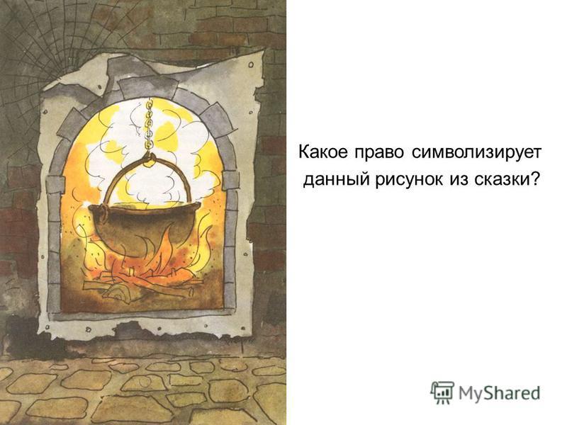 Какое право символизирует данный рисунок из сказки?