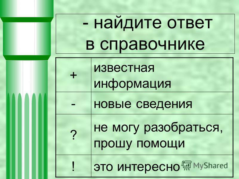 - найдите ответ в справочнике + известная информация -новые сведения ? не могу разобраться, прошу помощи !это интересно