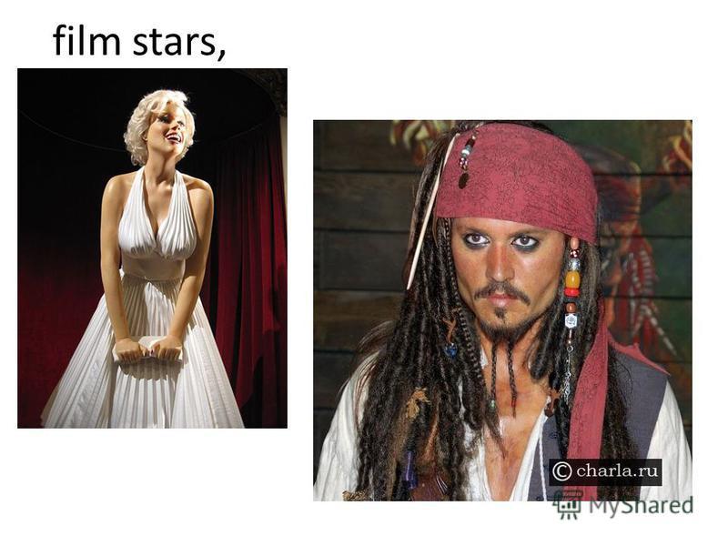 film stars,