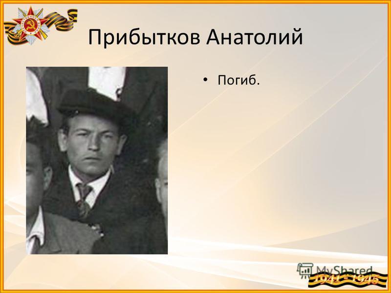 Прибытков Анатолий Погиб.