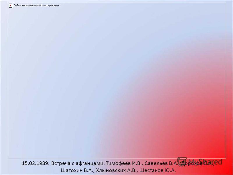 15.02.1989. Встреча с афганцами. Тимофеев И.В., Савельев В.А., Дорохов С.А., Шатохин В.А., Хлыновских А.В., Шестаков Ю.А.