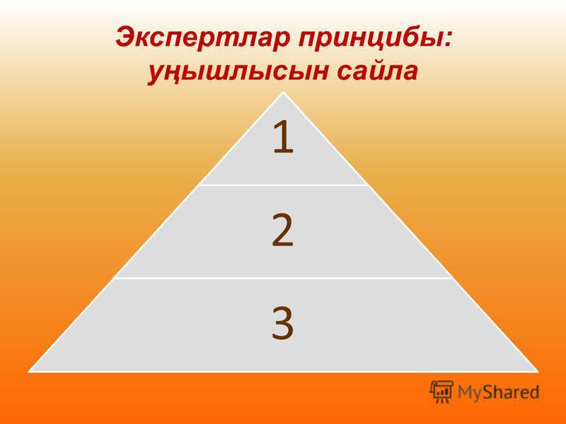 1 2 3 Экспертлар принципы: уңышлысын сайла