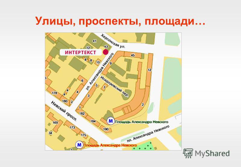 Улицы, проспекты, площади…