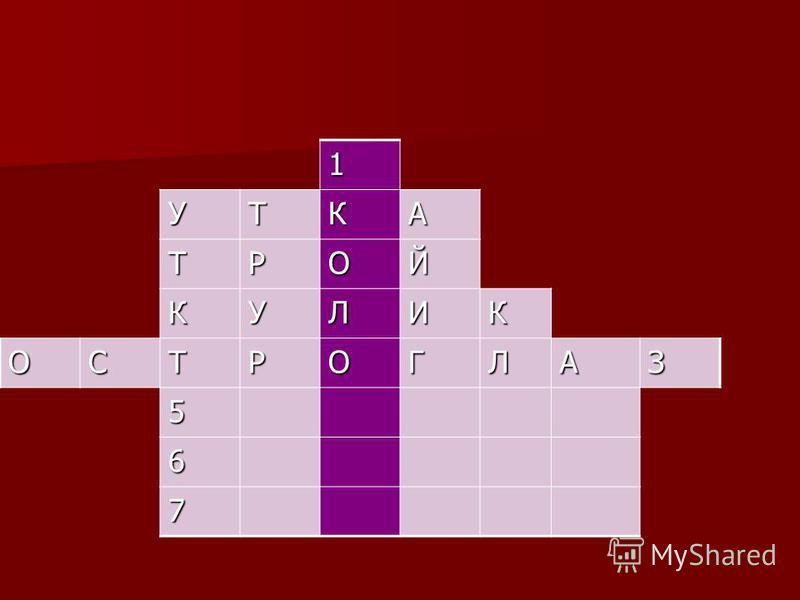 1 УТКА ТРОЙ КУЛИК ОСТРОГЛАЗ 5 6 7