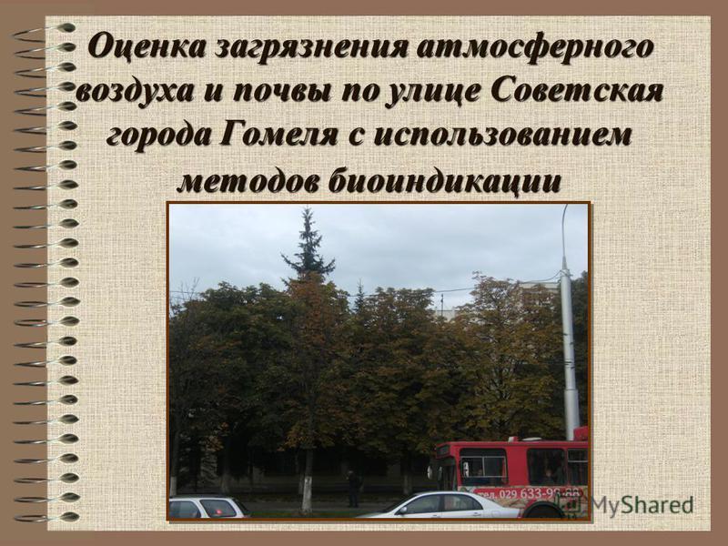 Оценка загрязнения атмосферного воздуха и почвы по улице Советская города Гомеля с использованием методов биоиндикации