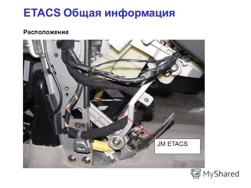 Расположение ETACS Общая информация JM ETACS