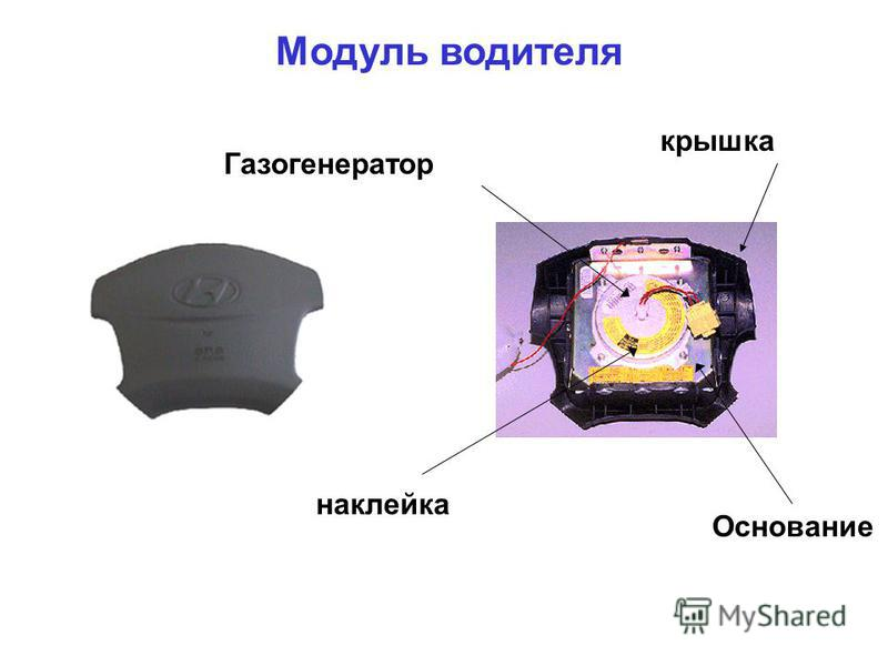 крышка Газогенератор наклейка Основание Модуль водителя
