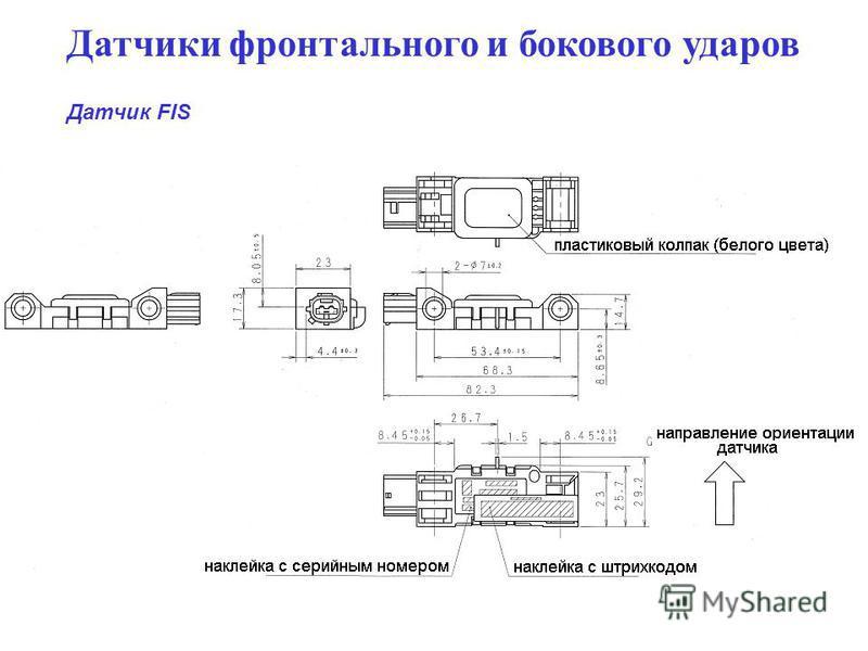 Датчики фронтального и бокового ударов Датчик FIS
